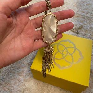 Kendra Scott Long Tassel Pendant necklace Pearl